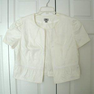 Worthington White Shrug/Bolero Jacket, Large